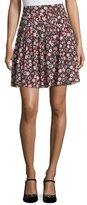 Kate Spade Casa Floral-Print High-Waist Pleated Mini Skirt