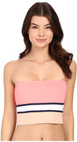 Vince Camuto Beach Front Bandeau Crop Top w/ Removable Soft Cups