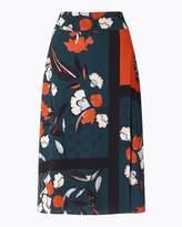 Jigsaw Nordic Floral Midi Skirt