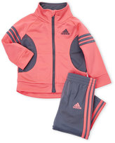 adidas Infant Girls) Two-Piece Tricot Jacket & Track Pants Set
