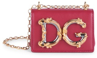 Dolce & Gabbana Micro Girls Leather Shoulder Bag