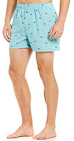 Tommy Bahama Woven Checked Marlin Print Boxers