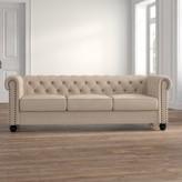 "Ophelia Sharniece Standard 87"" Rolled Arm Sofa & Co. Fabric: Beige"