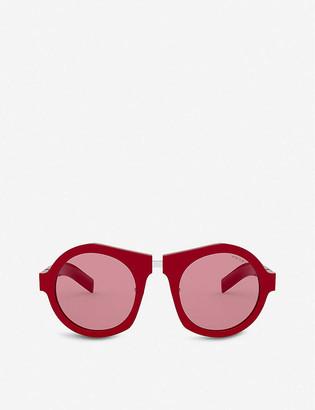 Prada PR 10XS 50 Duple acetate round-frame sunglasses