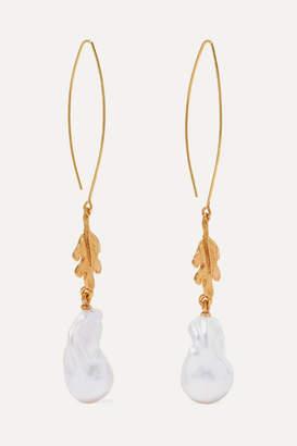Oscar De La Renta Oscar de la Renta - Gold-tone Pearl Earrings