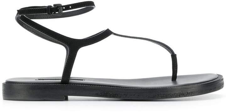 Ann Demeulemeester buckle T-bar sandals