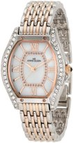 Anne Klein Women's 10/9811MPRT Swarovski Crystal Accented Rosegold-Tone and Silver-Tone Bracelet Watch