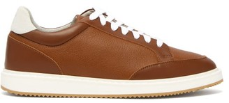 Brunello Cucinelli Grained Leather Trainers - Mens - Brown