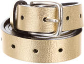 Balmain Metallic Leather Belt