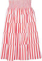 Prada Stripe Pleated Skirt
