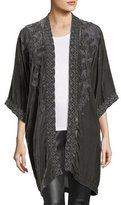 Johnny Was Parina Velvet Embroidered Kimono, Plus Size