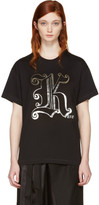 Christopher Kane Black Gothic 'K' Boyfriend T-Shirt