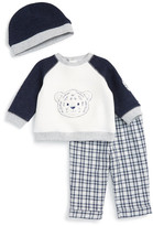 Little Me Tiger Sweatshirt, Pant, & Hat Set (Baby Boys)