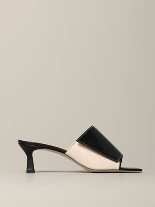 Wandler Sandal In Smooth Bicolor Effect Leather
