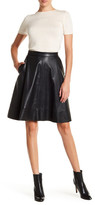 Matty M A-Line Faux Leather Skirt