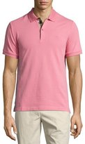 Burberry Short-Sleeve Oxford Polo Shirt, Light Pink