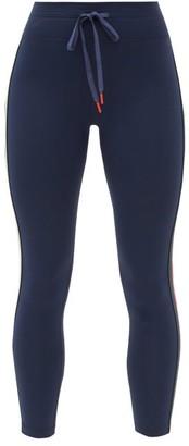 The Upside Mishka Side-stripe Cropped Leggings - Navy