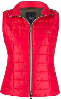Fay Mock Neck Padded Gilet
