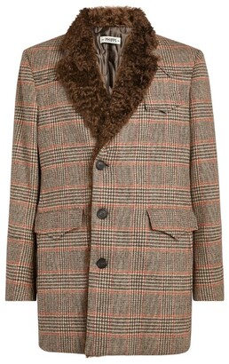 Phipps Wool Fur-Trimmed Coat