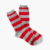 J.Crew Striped cashmere trouser sock