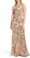 Vince Camuto Women's Sequin One-Shoulder Gown