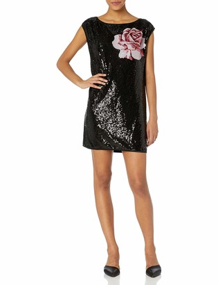 SHO Women's ONE Off Shldr Sequin Dress