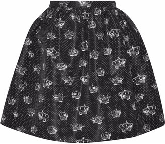 RED Valentino Printed Faille Mini Skirt