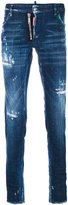 DSQUARED2 distressed regular leg jeans - men - Cotton/Spandex/Elastane - 44
