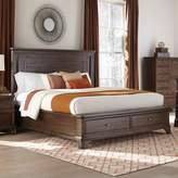 Intercon Furniture Telluride Queen Panel Bed with Storage in Vintage Oak