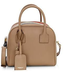 Burberry Women's Small Stripe Leather Cube Bag