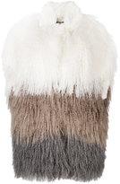 Liska - panel fur gilet - women - Silk/Lamb Skin/Tibetan Lamb Fur - M
