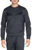 Fendi Monster Eyes Crewneck Sweatshirt, Gray