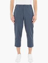 Comme Des Garcons Shirt Striped Wool-blend Trousers