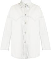 Maison Margiela Oversized distressed denim shirt