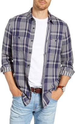 1901 Workwear Duofold Trim Fit Plaid Cotton Twill Shirt
