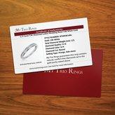 575 Denim 1/3 Carat T.W. Round Cut Diamond Ladies Wedding Ring 14K White Gold - Free Gift Box - Size