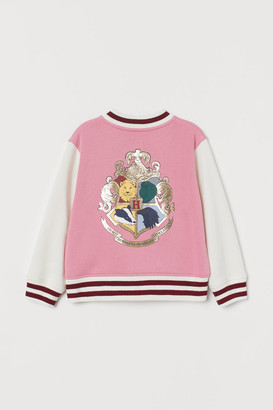 H&M Printed Baseball Jacket - Pink