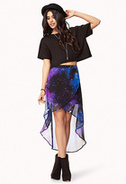 Forever 21 Cosmic Layered High-Low Skirt