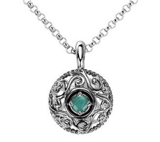 Carolyn Pollack Sterling Silver Birthstone Enhancer with Chain