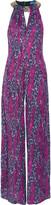 Matthew Williamson Embellished printed silk-georgette jumpsuit