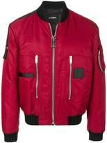Les Hommes puffy pilot bomber jacket