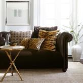 Williams-Sonoma Williams Sonoma Jacquard Cashmere Chain Links Pillow Cover, Chocolate