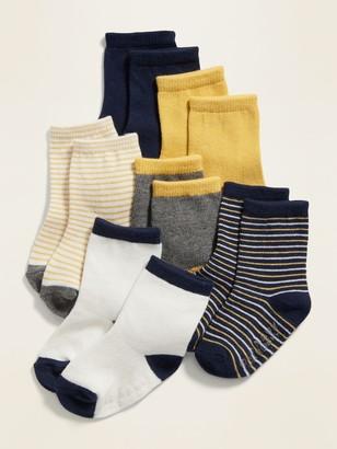 Old Navy Unisex Crew Socks 6-Pack for Baby
