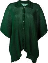 Issey Miyake ruffled shirt - women - Polyester - One Size
