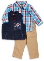Nannette Boys 2-7 Sherpa Vest, Sportshirt and Chinos Set