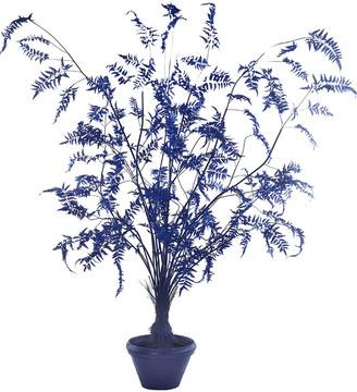 Pols Potten Fern in Pot - Large - Dark Blue