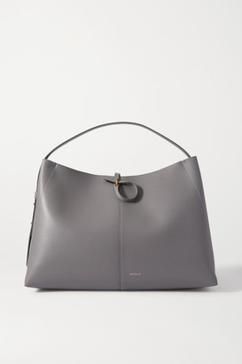 Wandler Ava Large Leather Tote - Gray