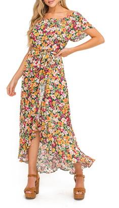 ALL IN FAVOR Floral Off the Shoulder Dress