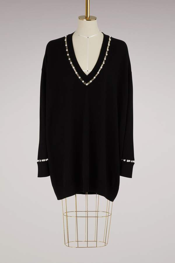 Givenchy Pearl collar sweater