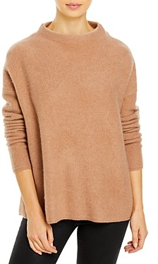 C by Bloomingdale's Brushed Cashmere Mock Neck Sweater - 100% Exclusive